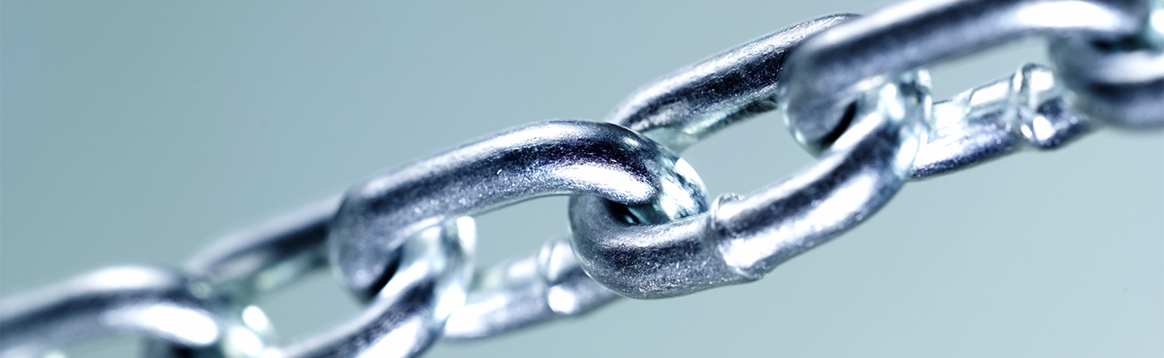Close-up of a chain link